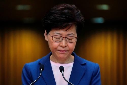 Trưởng đặc khu Hong Kong Carrie Lam. Ảnh: Reuters.