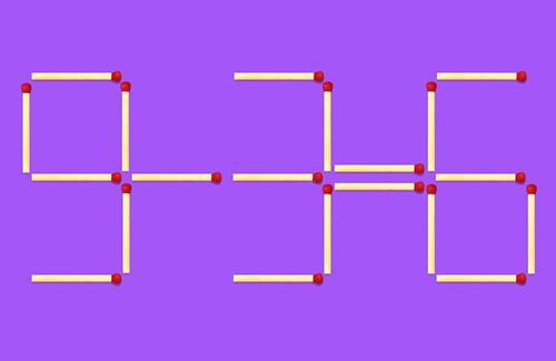 Năm câu đố di chuyển que diêm - 4