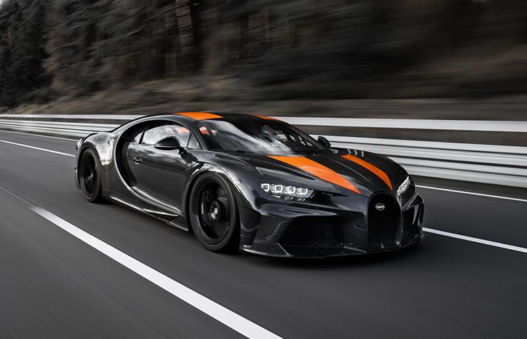 Chiếc Chiron lập kỷ lục tốc độ hôm 2/9. Ảnh: Bugatti