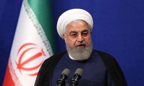 Tổng thống Iran Hassan Rouhani phát biểu trong cuộc họp báo tại Tehran ngày 1/6. Ảnh: Reuters.