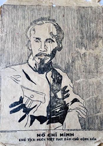 Bức tranh do họa sĩ Phan Văn Doãn vẽ được ông Pierre Flamen sưu tầm và cất giữ từ năm 1949.