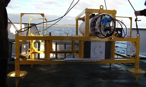 Bộ khung của đài quan sát dưới nước trước khi lắp đặt. Ảnh: Fox News.