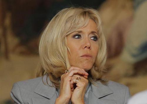 Đệ nhất phu nhân Pháp Brigitte Macron. Ảnh: AFP.