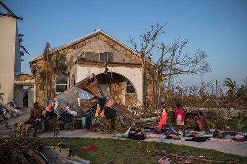 Cảnh tan hoang trên quần đảo Abaco của Bahamas sau khi siêu bão Dorian quét qua. Ảnh: NYTimes.