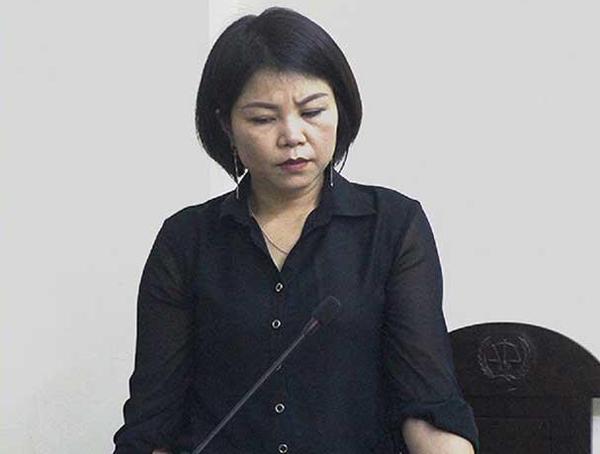 Cựu thượng úy Vững trong phiên đối chất ngày 10/4 tại TAND quận Nam Từ Liêm. Ảnh: Pháp luật TP HCM