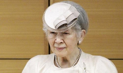 Cựu hoàng hậu Nhật Bản Michiko. Ảnh: AP.