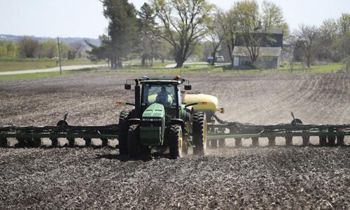 Một trang trại trồng đậu tương ở thành phố Maxwell, bang Iowa, Mỹ. Ảnh: Xinhua.