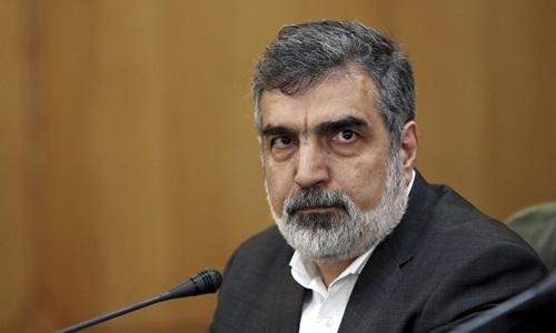 Phát ngôn viên Cơ quan Năng lượng Nguyên tử Iran Behrouz Kamalvandi trong cuộc họp báo ở Tehran, ngày 7/7. Ảnh: AP.