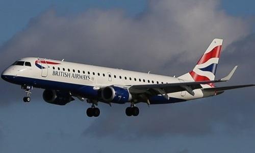 Máy bay của hãng hàng không British Airways. Ảnh: CNN.