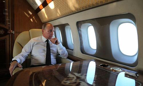 Tổng thống Putin trên chuyên cơIl-96-300PU