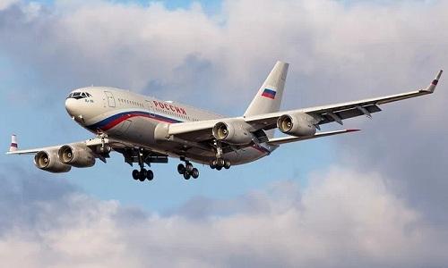 Chuyên cơ  Il-96-300 của Tổng thống Nga. Ảnh: Sputnik.