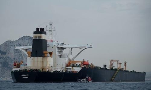 Tàu Grace 1 ngoài khơi Gibraltar ngày 6/7. Ảnh: AFP.