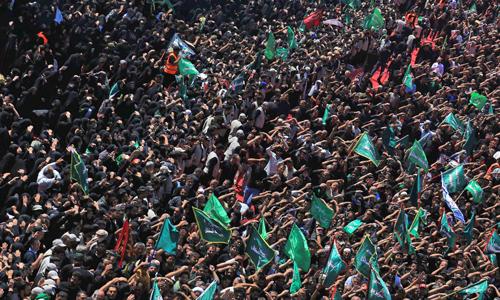 Đám đông tham gia lễ hội Ashura ở thành phố Karbala, Iraq hôm nay. Ảnh: AFP.