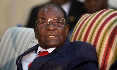 Robert Mugabeon tại Pretoria, Nam Phi, tháng 10/2017. Ảnh: News24.
