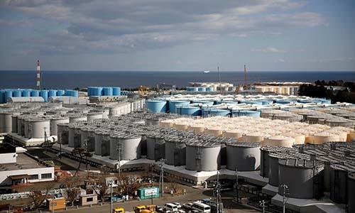 Các bể chứa nước nhiễmphóng xạ tại Fukushima Daiichi ngày 18/2/2019. Ảnh: Reuters.