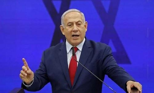 Thủ tướng Israel phát biểu trong buổi vận động tranh cử ởAshdod ngày 10/9. Ảnh: AFP.
