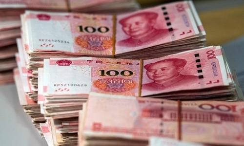 Đồng nhân dân tệ của Trung Quốc. Ảnh: AFP.
