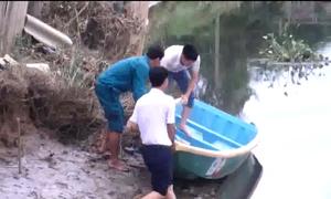 Truy tìm cá sấu trên sông Cầu Đông