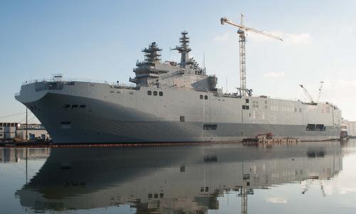 Tàu đổ bộ tấn công lớp Mistral được Pháp đóng cho Nga hồi năm 2014. Ảnh: Wikipedia.