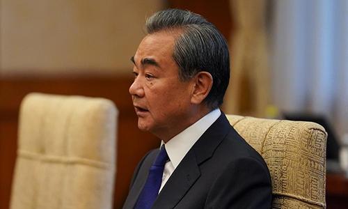 Ngoại trưởng Trung Quốc Vương Nghị tại họp báo ở Bắc Kinh ngày 12/9. Ảnh: Reuters.