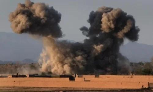 Một cuộc không kích của Mỹ tại tỉnh Helmand, Afghanistan hồi tháng 7/2017. Ảnh: Nation.