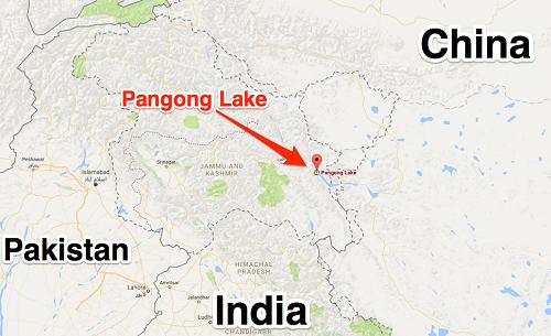 Vị trí hồ Pangong. Đồ họa: Business Insider.