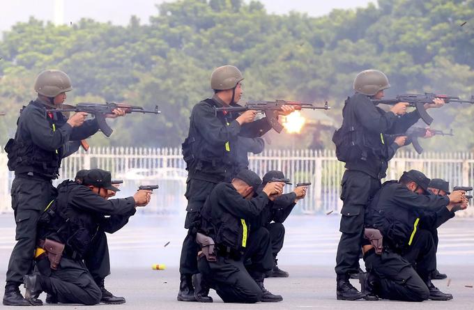 Đặc nhiệm diễn tập chống khủng bố