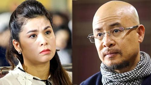 Bà Thảo và ông Vũ tại phiên xử sơ thẩm. Ảnh: Thành Nguyễn.