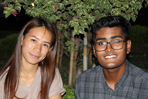 Ravina, tín đồ Kito giáo,và bạn trai Zide, một người Hồi giáo. Ảnh: SCMP