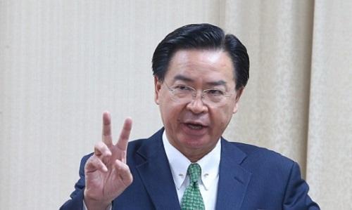 Lãnh đạo cơ quan ngoại giao Đài Loan Joseph Wu trong một buổi họp báo ở Đài Bắc hồi tháng 7. Ảnh: Taiwan News.