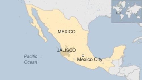 Vị trí bang Jalisco. Đồ họa: BBC.