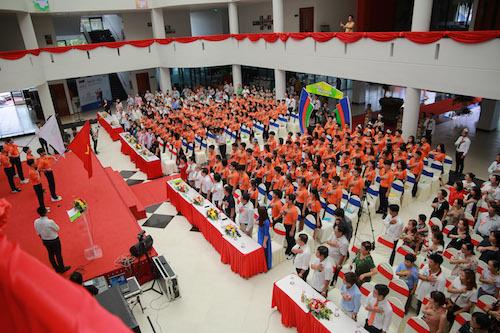 Buổi lễ khai giảng tại trường THPT FPT Cần Thơ.