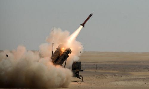 Tên lửa Patriot Mỹ khai hỏa trong diễn tập ở Trung Đông năm 2014. Ảnh: USAF.