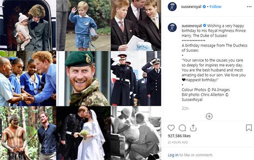 Những hình ảnh về Harry được Meghan chia sẻ để chúc mừng sinh nhật. Ảnh: Instagram/Sussex Royal