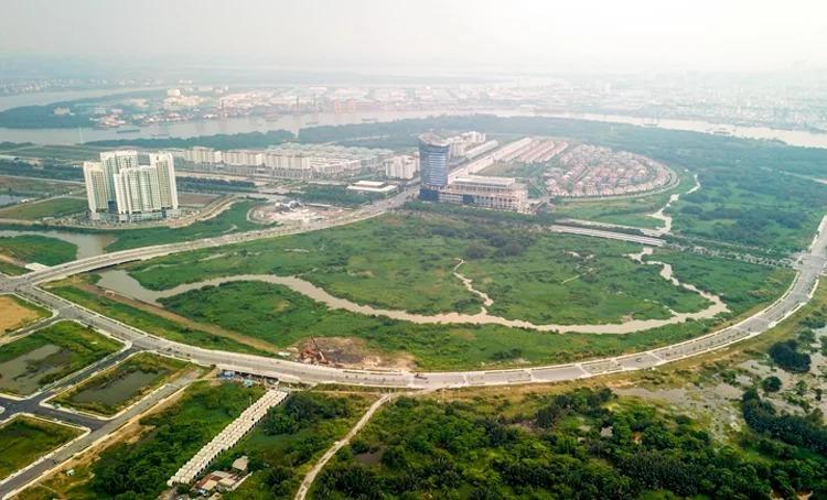 Khu đô thị mới Thủ Thiêm còn 55 lô đất trống với tổng diện tích hơn 793.000 m2. Ảnh: Hữu Khoa