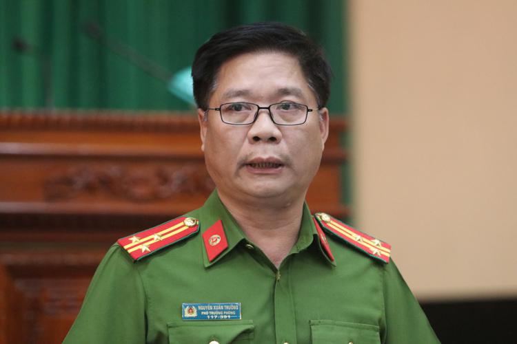 Ông Nguyễn Xuân Trường, Phó phòng cảnh sát điều tra Công an Hà Nội. Ảnh: Võ Hải