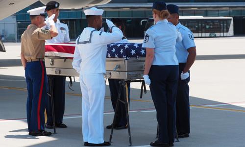 Lễ hồi hương hài cốt binh sĩ Mỹ lần thứ 151 tại sân bay Đà Nẵng hôm nay. Ảnh: Tổng Lãnh sự quán Mỹ tại TP HCM.