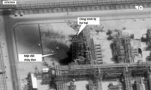 Khu vực bị hư hại ở nhà máy Khurais. Ảnh: Digital Globe.