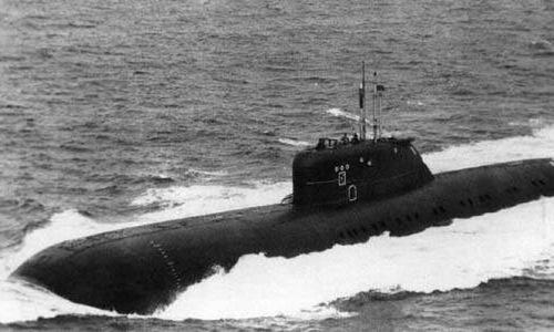 Tàu ngầm Đề án 670A di chuyển trên biển năm 1985. Ảnh: Topwar.