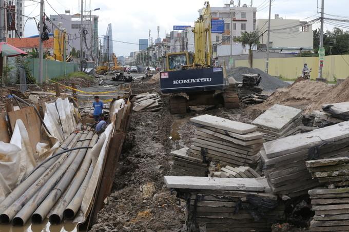 Dự án mở rộng đường hơn 800 tỷ thi công dang dở