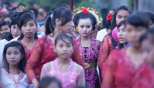 An Indonesian girl getting married aged 14 in Mataram, West Nusa Tenggara. Picture: UN Photo/Armin Hari