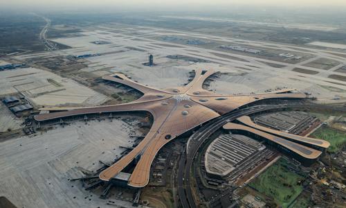 Toàn cảnh sân bay quốc tế Bắc Kinh Đại Hưng hôm 28/6. Ảnh: Reuters.