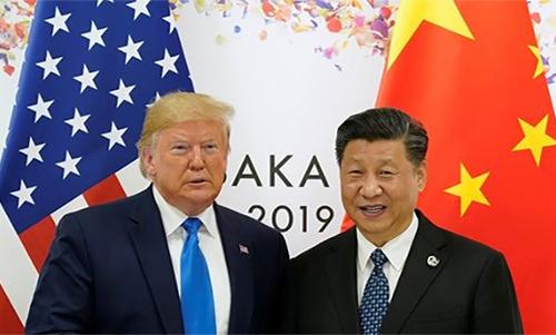 Tổng thống Mỹ Donald Trump và Chủ tịch Trung Quốc Tập Cận Bình tại Hội nghị thượng đỉnh G20 hồi tháng 6 ở Osaka, Nhật Bản. Ảnh: Reuters.
