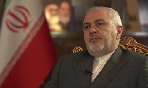 Ngoại trưởng Iran Mohammad Javad Zarif trong cuộc phỏng vấn được phát sóng hôm nay của CNN. Ảnh: CNN.