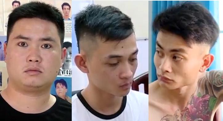 Ba nghi can trong nhóm nổ súng trên đường Lê Hồng Phong. Ảnh: Nguyễn Khoa.