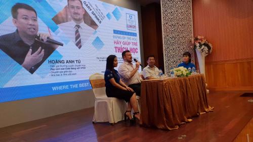Ngay sau sự kiện tại Hà Nội là buổi chia sẻ của hai diễn giả tại Hải Phòng.