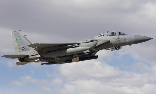 Tiêm kích F-15 Arab Saudi tập trận tại Mỹ năm 2016. Ảnh: Military Edge.