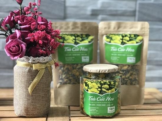 Trà hoa cúc Econashine có nhiều dưỡng chất tốt cho sức khỏe. Ảnh: Bizmedia.