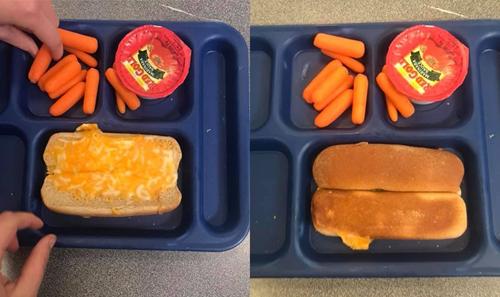 Bữa ăn trưa 13/9 của học sinh trường trung họcApollo.Ảnh:MarynHoller