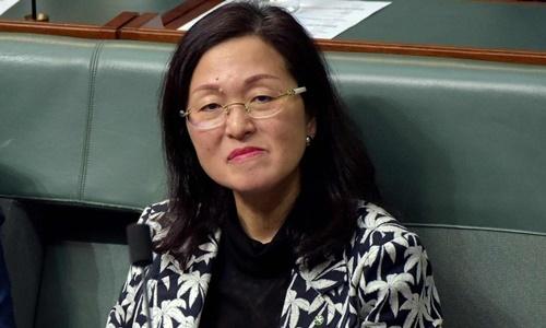 Gladys Liu trong một phiên họp của hạ viện Australia ngày 12/9. Ảnh: AFP.